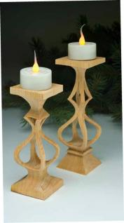 Compound-Cut Candleholders
