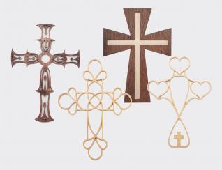Cutting Fretwork Crosses