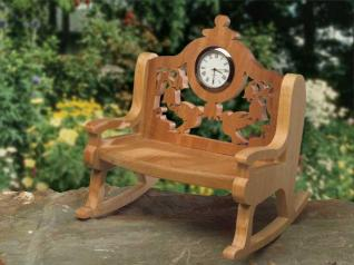 Hummingbird Rocking Chair Clock