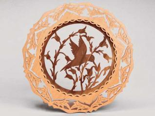 Fretwork Hummingbird Plate