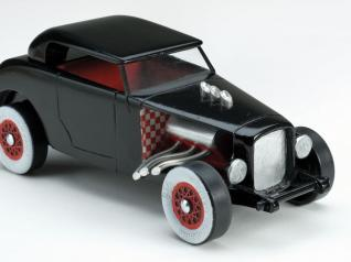 Customize your Pinewood Derby car with a variety of options