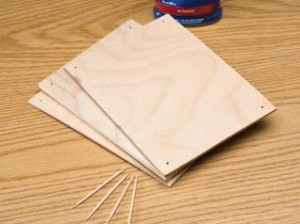 Attaching Blanks with Toothpicks