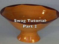 Making a swag bowl on a scroll saw Part 2