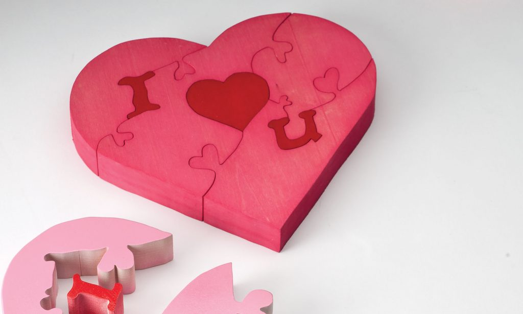 Cutting a Whimsical Heart Puzzle