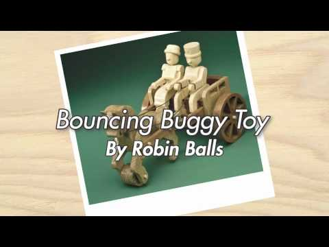 Bouncing Buggy Toy – Finished Woodworking Project in Action