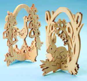 Fretwork Easter Ornaments