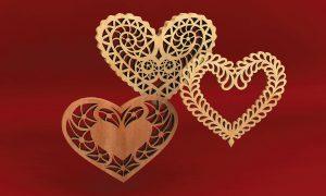 Filigree Fretwork Hearts