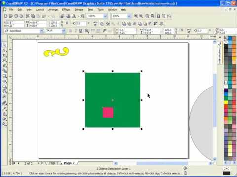 Moving and Positioning Objects in Corel Draw