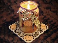 Pumpkin Candle Tray