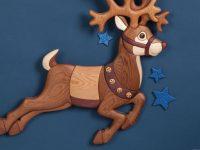 Prancing Reindeer Intarsia