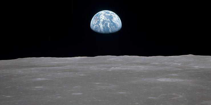 Judy Gale Roberts' Moon Landing Intarsia
