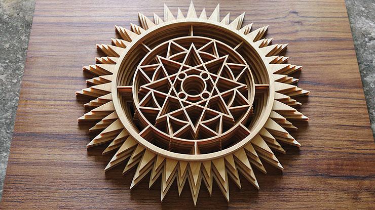Geometric Sunburst Fretwork