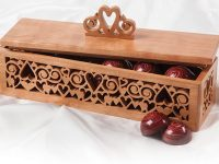Fretwork Heart Box