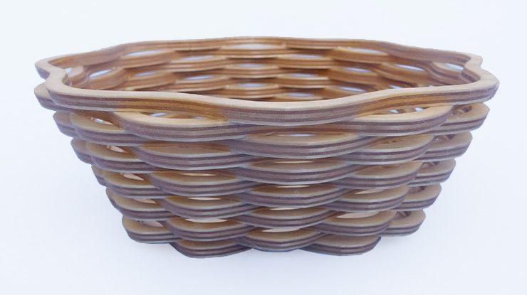 Scroll Sawn Wicker-Style Basket