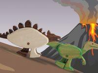 Dinosaur Ramp Walkers Race