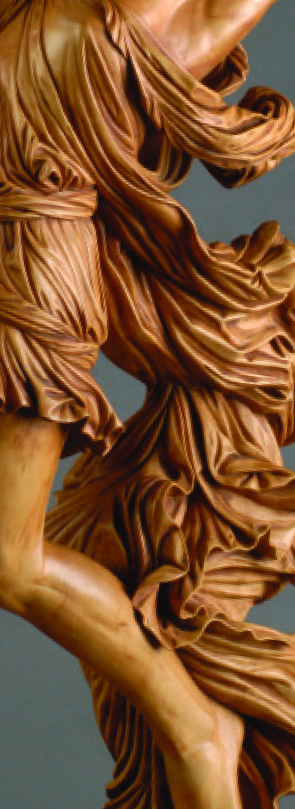 Carving realistic wrinkles and folds woodcarving illustrated