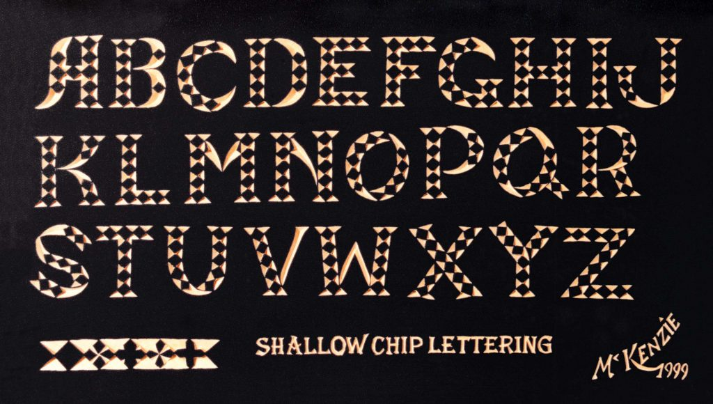Chip Carved Letters