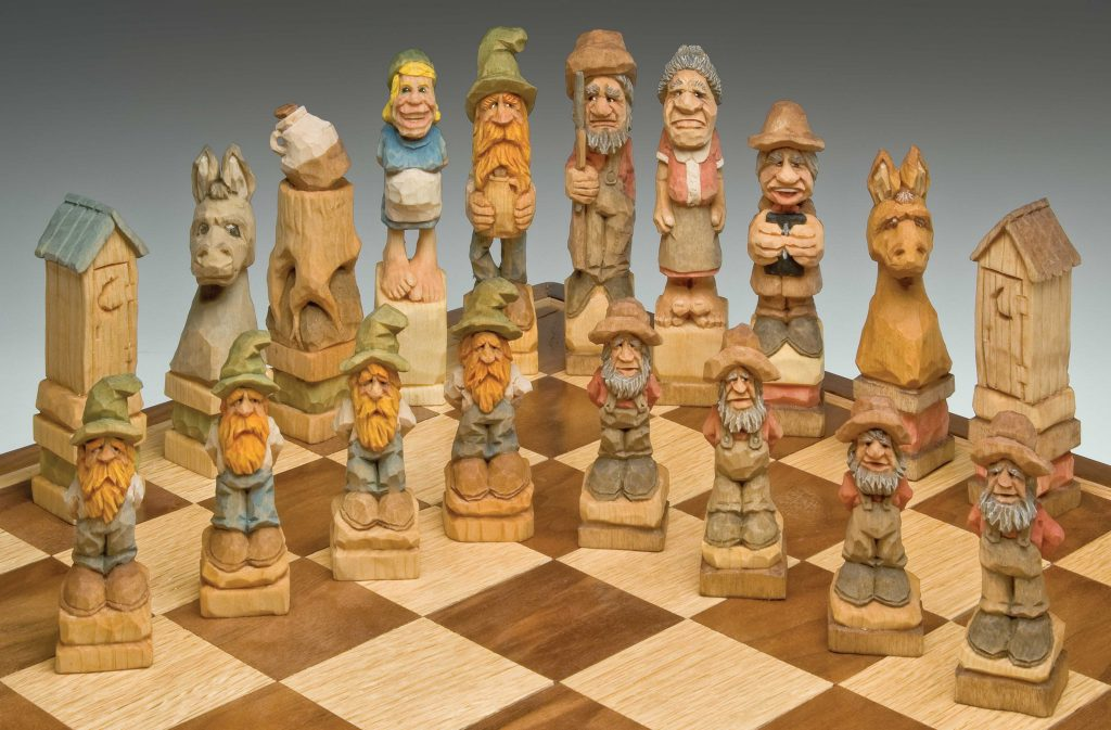 Hillbilly Chess Set