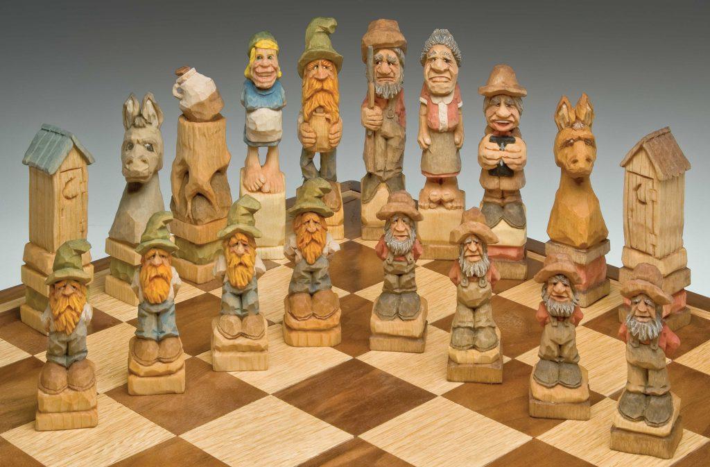 Hillbilly Chess Set