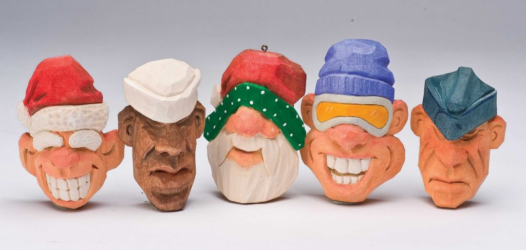 Super Simple Santa, Fisherman, Soldier Ornaments