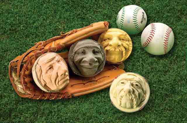 Carving Faces in Softballs