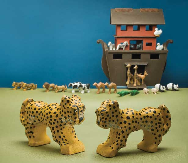 Carving Animals for Noah's Ark