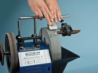 The Tormek allows you to sharpen everything from small chip carving knives to planer blades.
