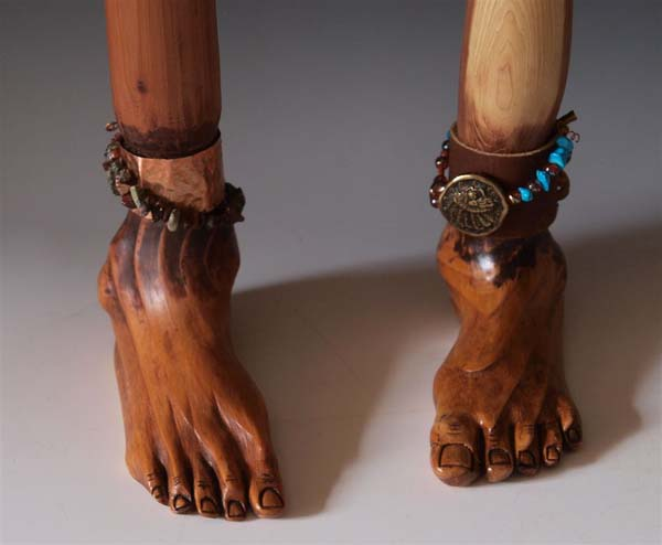 Janice Sloan of Spring Branch, Tex., earned the People's Choice Award with her Footed Canes.