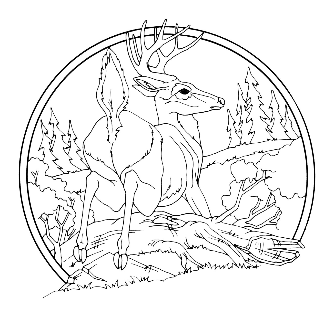 Low relief animal scenes woodcarving illustrated