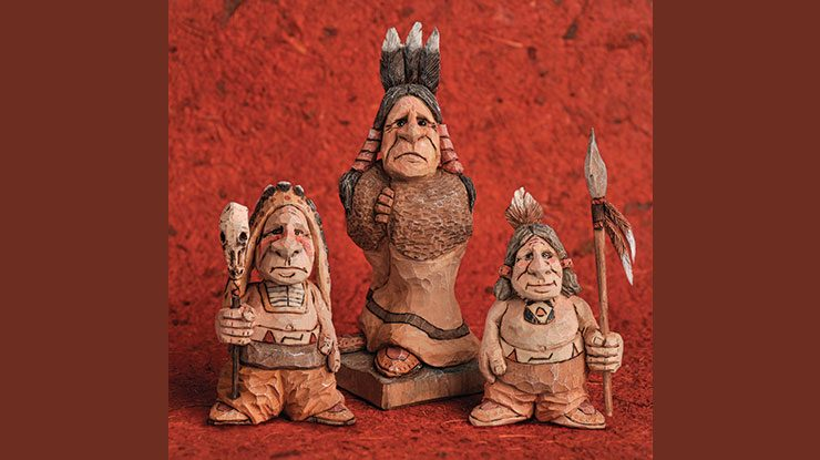 Carving Caricature Native Americans