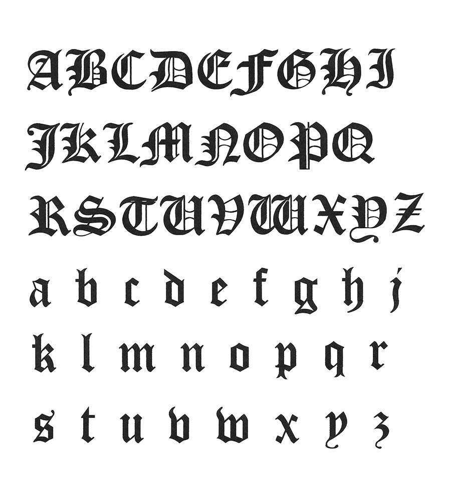 CLICK HERE To Download The Old English Alphabet Pattern