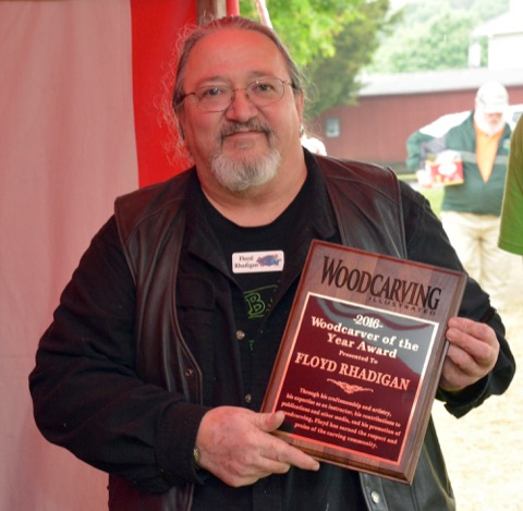 Floyd Rhadigan Named WCI Woodcarver of the Year