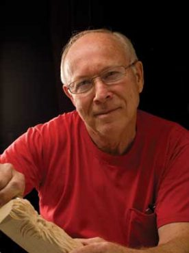 Harold Enlow is the 2001 Woodcarver of the Year