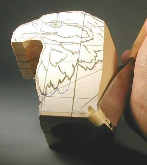 Realistic Eagle Bust - Woodcarving Illustrated