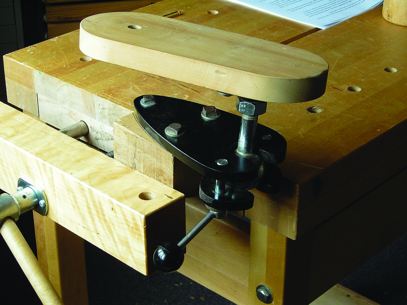 A holding system by Woodcarvers Supply Inc., that is easily adaptable.