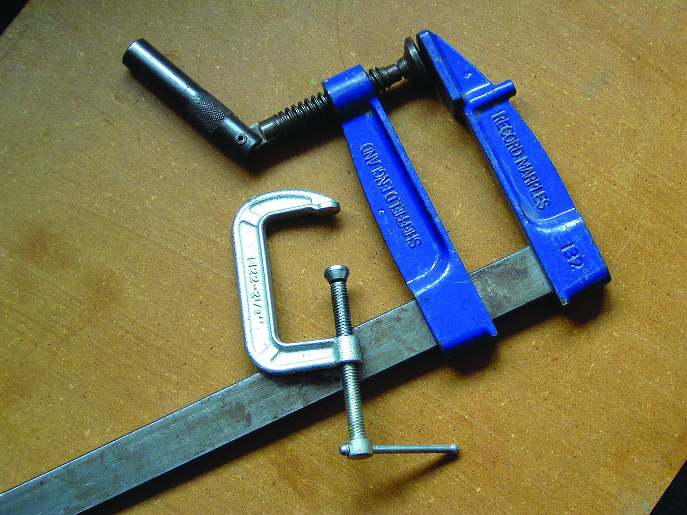 A variety of useful clamps. I prefer the larger quick action type.