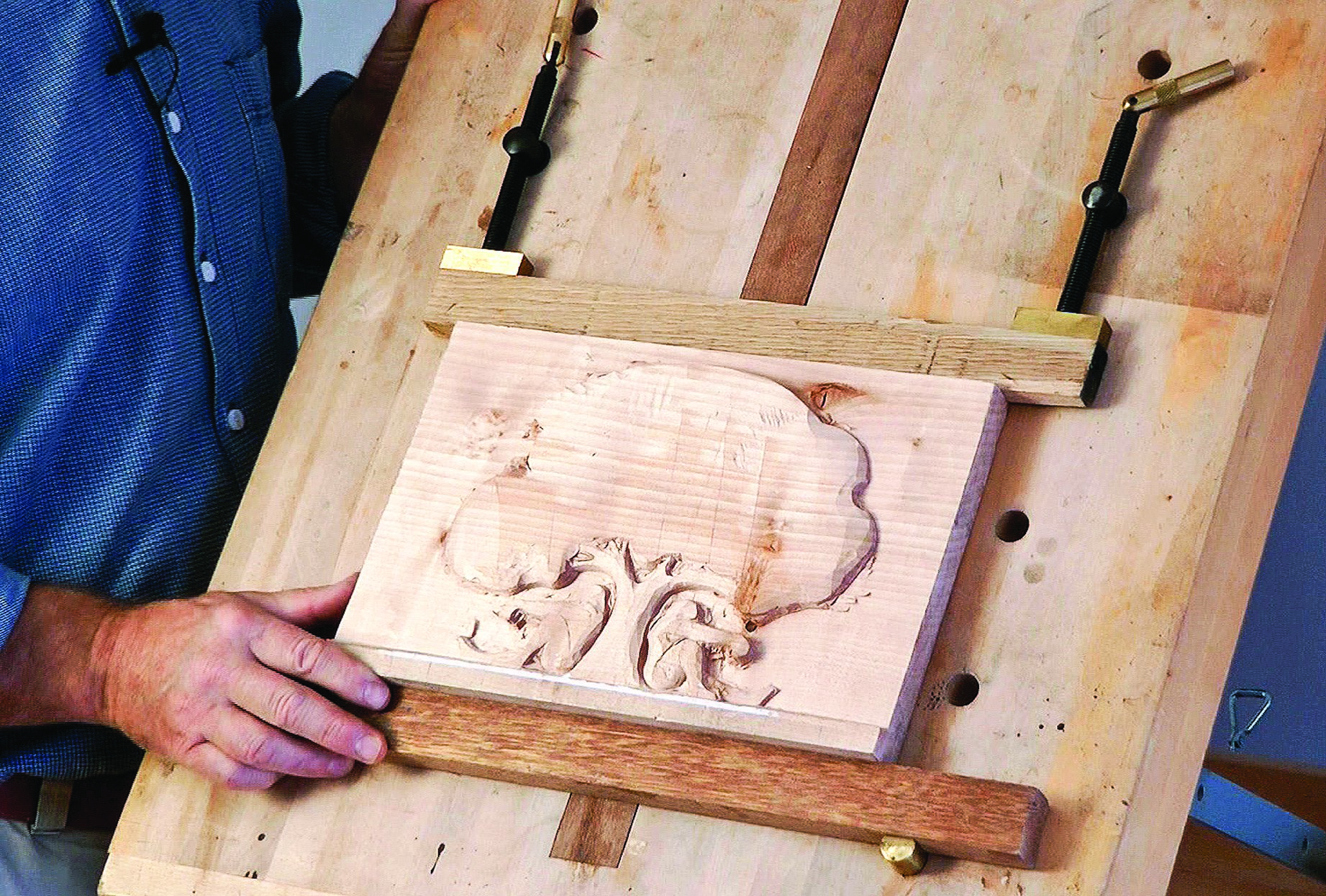 Holding Your Work Woodcarving Illustrated