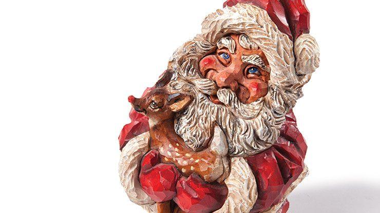 Carving Santa and Rudolph