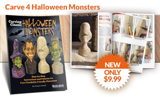 Wood Carving Classic Halloween Monsters - Only $9.99