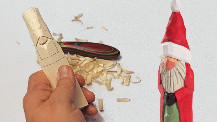 Carving a Simple Santa Ornament