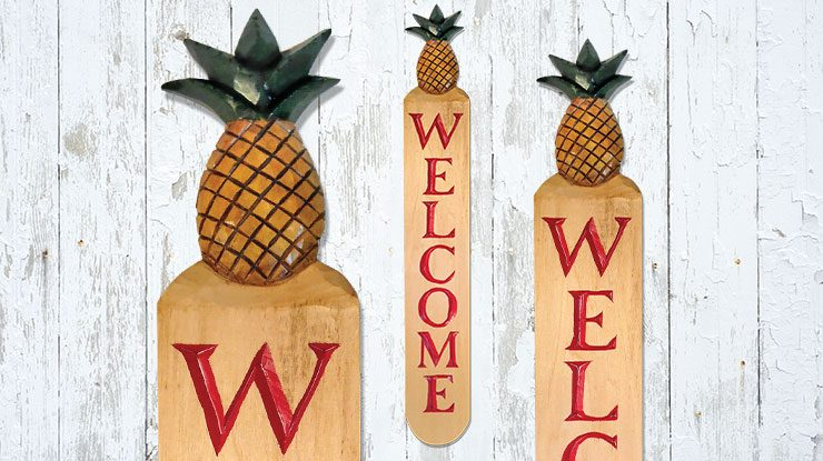 Carving a Rustic Welcome Sign