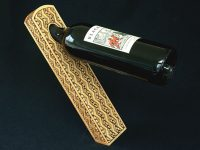 Chip-Carved Wine Bottle Holder