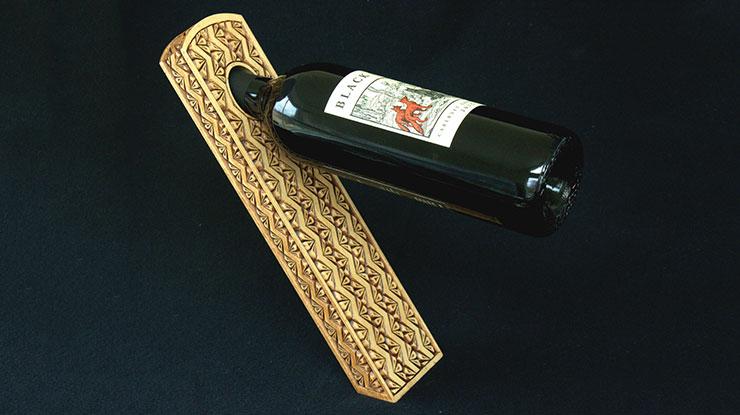 Chip-Carved Wine Bottle Holder