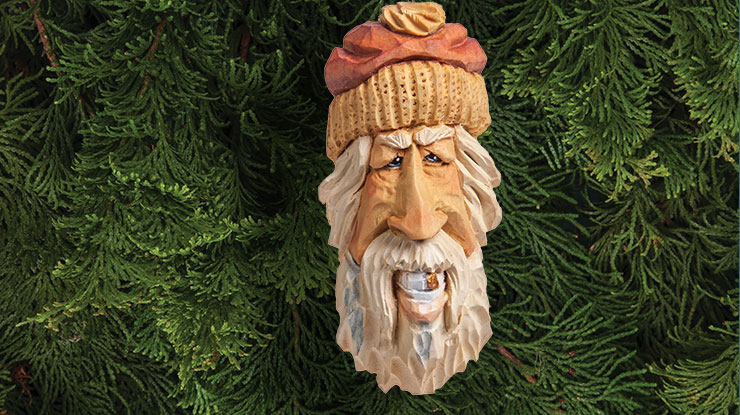 Gold-Tooth Santa Ornament