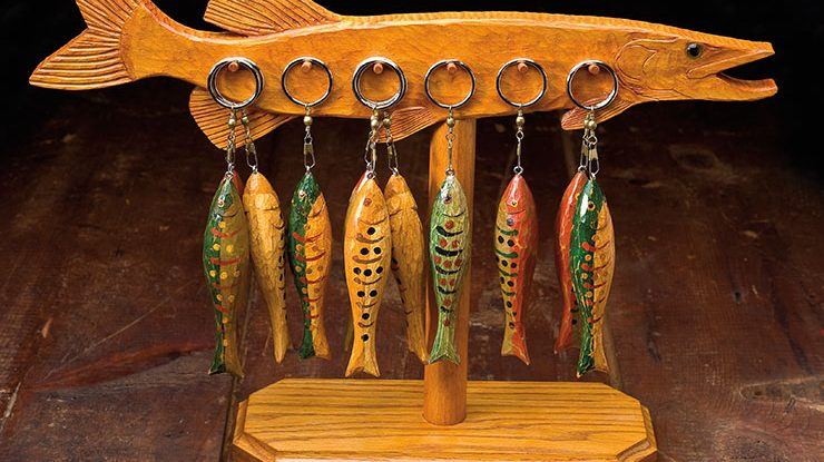 Carving Folk Art Fish Keychains