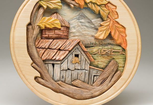 Relief Carve an Autumn Scene