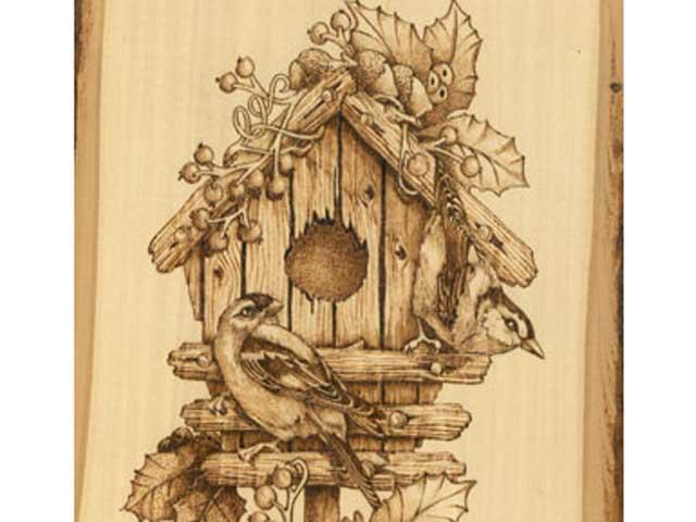 Winter Birdhouse Woodburning Tutorial – First Steps