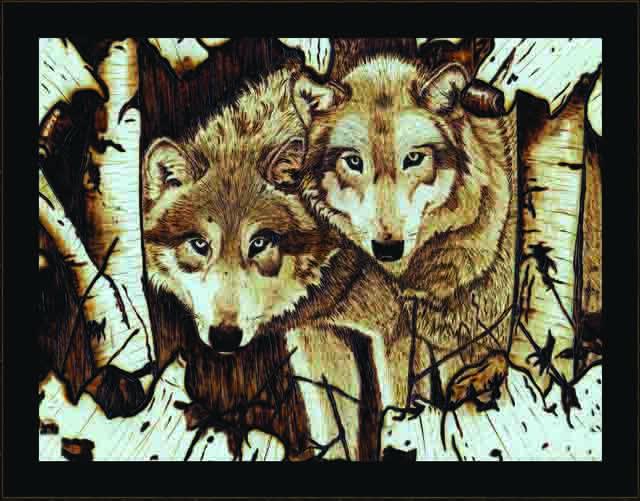 Winter Wolves Scene