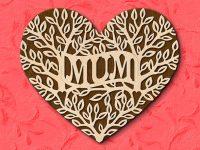 "Fretwork Heart ""Mum"" pattern"