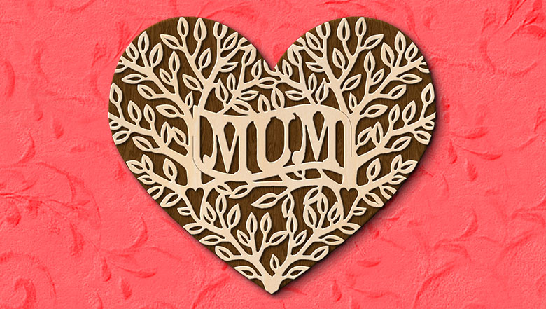 Fretwork Heart Quot Mum Quot Pattern Scroll Saw Woodworking Amp Crafts